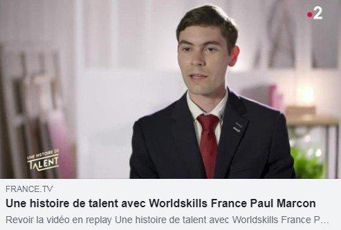 Passionné par son #métier 👏👏 bravo à Paul Marcon qui a représenté la région @auvergnerhalpes puis la France aux 44es Olympiades des Métiers #TeamFR #ODM44 A découvrir sur @France2tv 👉 https://t.co/P2GCySoWFr https://t.co/aEwJuIqxM1