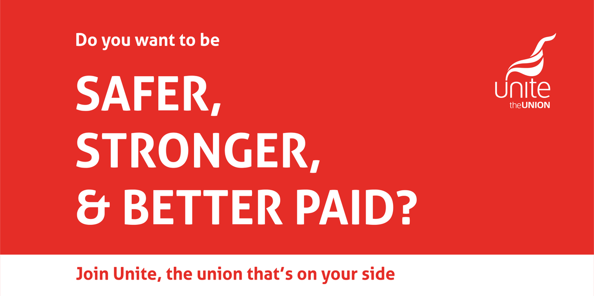 10 good reasons to join Unite You can: #1 Earn more #2 Get more holiday #3 Get a better deal #4 Be safer #5 Get support #6 There's a place for you #7 Get better compensation #8 Get more training #9 Better job security #10 Join the fight for fairness Join: unitetheunion.org/how-we-help/wh…