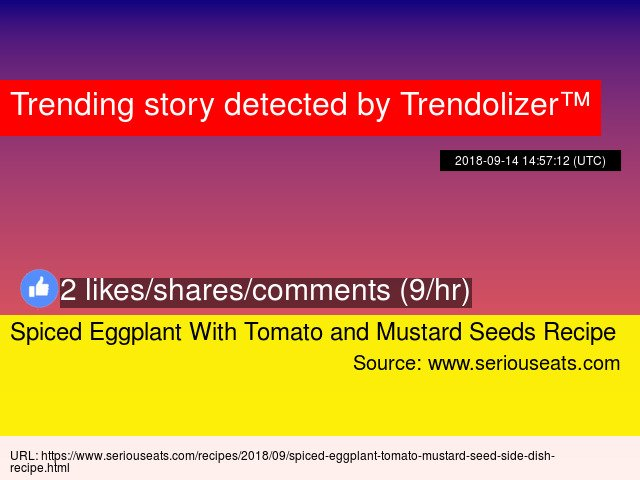 Spiced Eggplant With Tomato and Mustard Seeds Recipe https://t.co/UWP9X8Smj0 https://t.co/3Q06eLFQoc