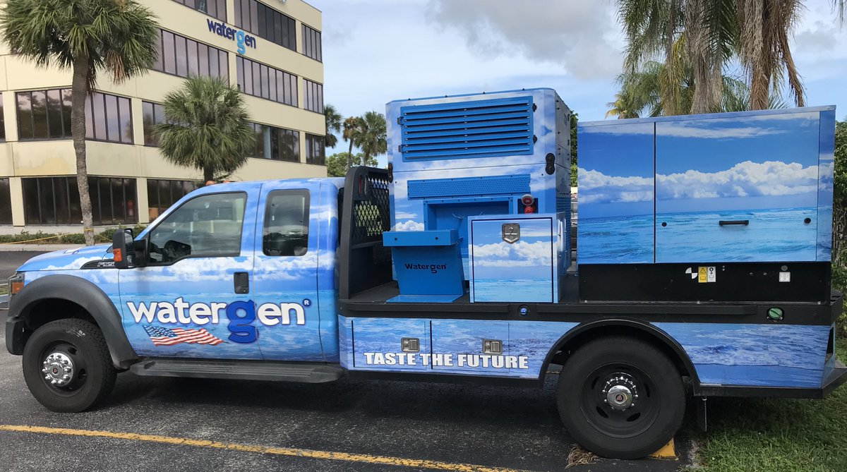@WatergenUSAs Emergency Response Vehicle can provide #safe #waterfromair in locations after natural disasters Urging people to #staysafe and always keep a #cleanwater supply #FlorenceHurricane2018 #ERV #watergen #disasterrelief