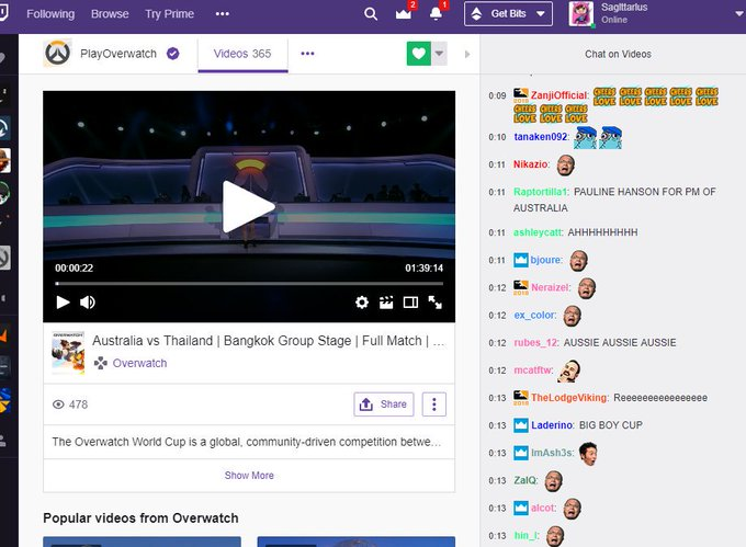 I love Twitch chat reactions when I was screaming lmao #OWWC2018 Photo
