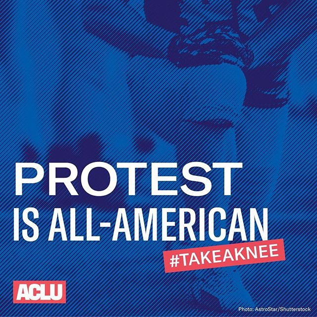 REMINDER: Protest isn't supposed to make anyone feel comfortable. #TakeAKnee