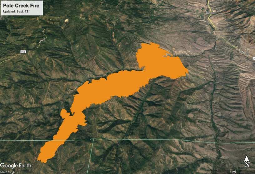 Devon Dewey On Twitter Here S A Fire Perimeter Map For The