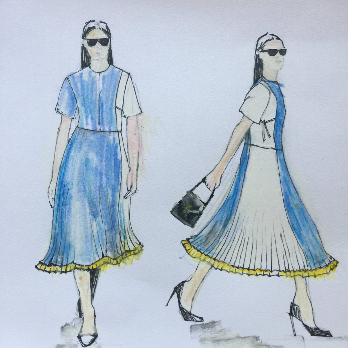 It started with a sketch! Wedding guest dress inspiration is best left to the fashionistas but for wedding venue inspiration, visit our Open Day on Sunday 7th October 11-3.30 @Loseleyevents #wedding #weddinginspiration #dreamwedding #gettingmarried #weddingplanning #dressinspo
