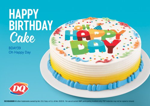 Astounding Dairy Queen Twitterren Need A Custom Birthday Cake Stop By And Funny Birthday Cards Online Alyptdamsfinfo