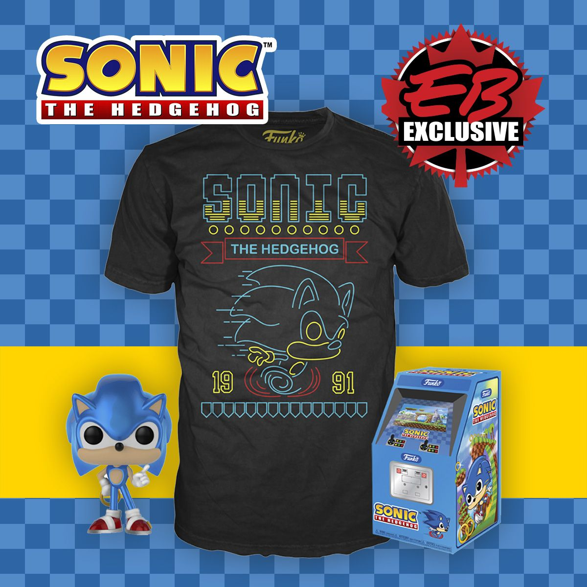 f301616e9 Limited quantities of the POP! & Tee: Sonic The Hedgehog - Neon Run T-Shirt  are available online here: http://bit.ly/2OlTJNa Available in stores this  ...