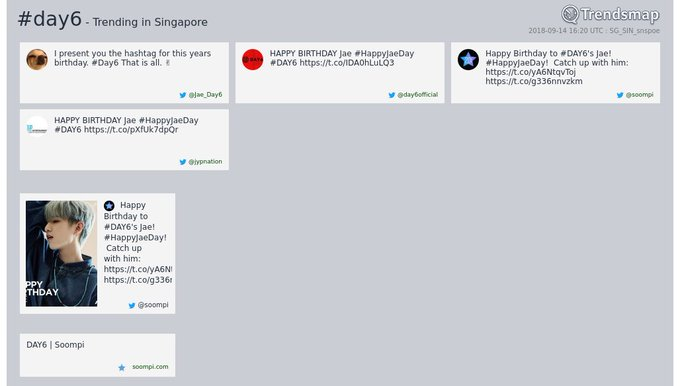 #day6 is now trending in #Singapore Photo