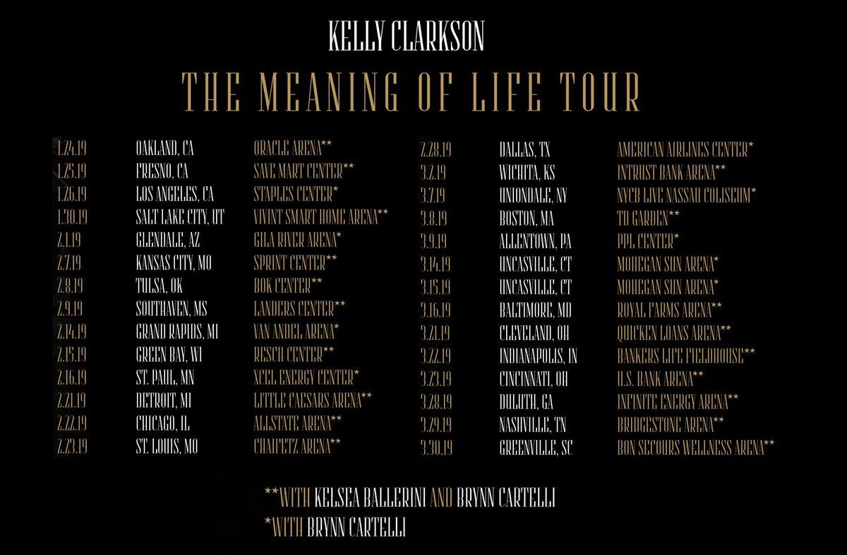 Kelly Clarkson's photo on #MeaningOfLifeTour