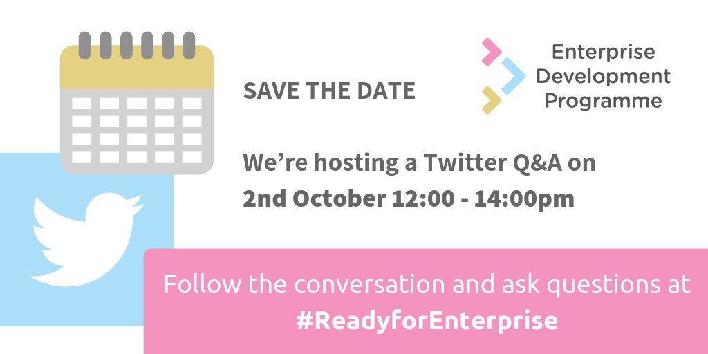 test Twitter Media - So what is the Enterprise Development Programme exactly? Now's your chance to find out with the #ReadyforEnterprise Q&A on Tuesday 2 October 12:00-14:00 https://t.co/vJffK3TQ6i
