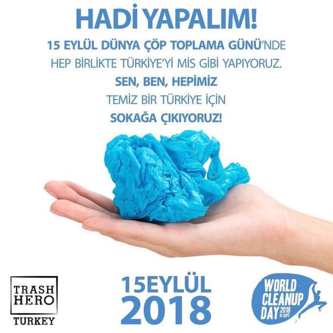 Haydi hep birlikte daha temiz bir gelecek için kolları sıvayalım ve ülkemizi, Edirne'mizi mis gibi yapalım 🧤 🔘 15 Eylül cumartesi günü saat 16:00'da Atatürk Anıtı önünde buluşuyoruz. #WorldCleanUpDay Photo