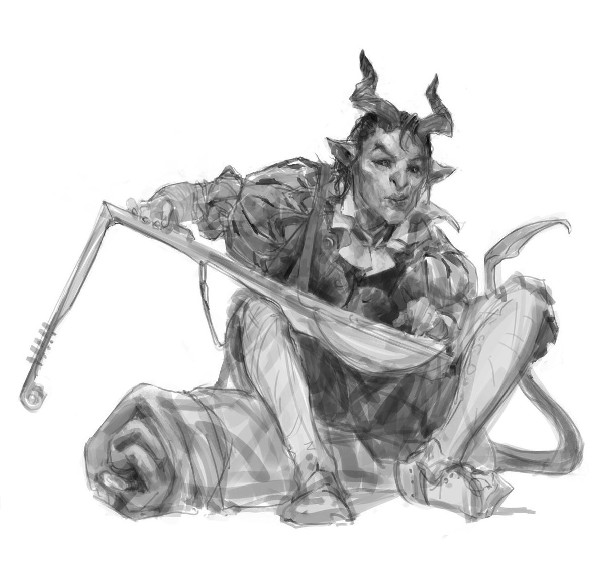 9c43555320f0 I wanted to go a little off model for the typical tiefling anatomy and try  a different look.  dnd  DragonHeist  Waterdeeppic.twitter.com IpBY0Vhxwl