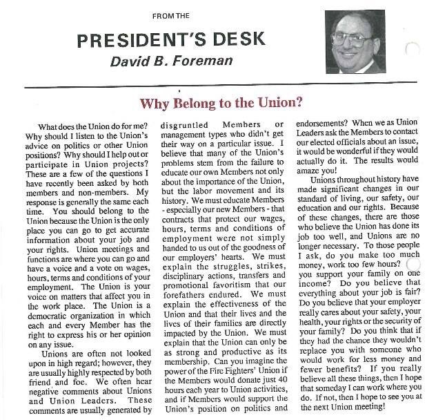 #FlashbackFriday Why Belong To The Union?