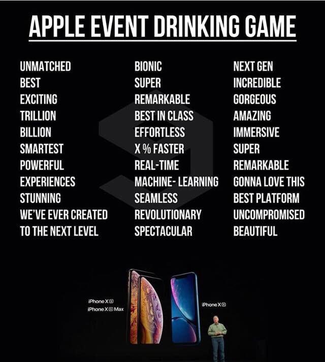 Al prossimo #AppleEvent, seguo solo per fare il #DrinkingGame   - Ukustom