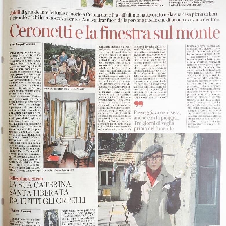 Ho avuto il privilegio, ieri, di entrare dentro la casa di Guido #Ceronetti  di parlare con chi gli è stato accanto fino all\