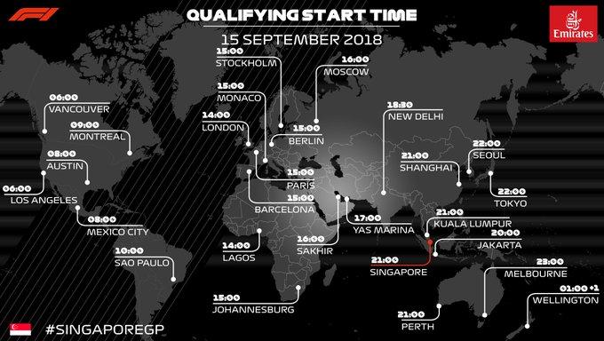 Most #SingaporeGP poles: 4 - Vettel 3 - Hamilton 1 - Massa, Alonso, Rosberg Who you got on Saturday? Photo