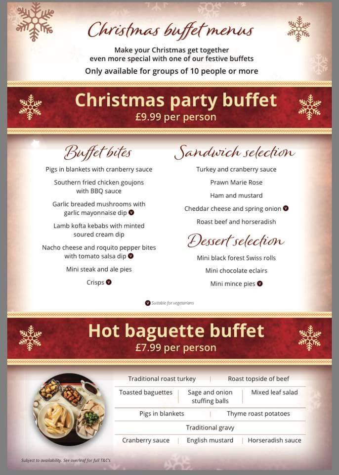 Christmas Buffet Menus.Tafarn Y Phoenix On Twitter Now Taking Christmas Bookings