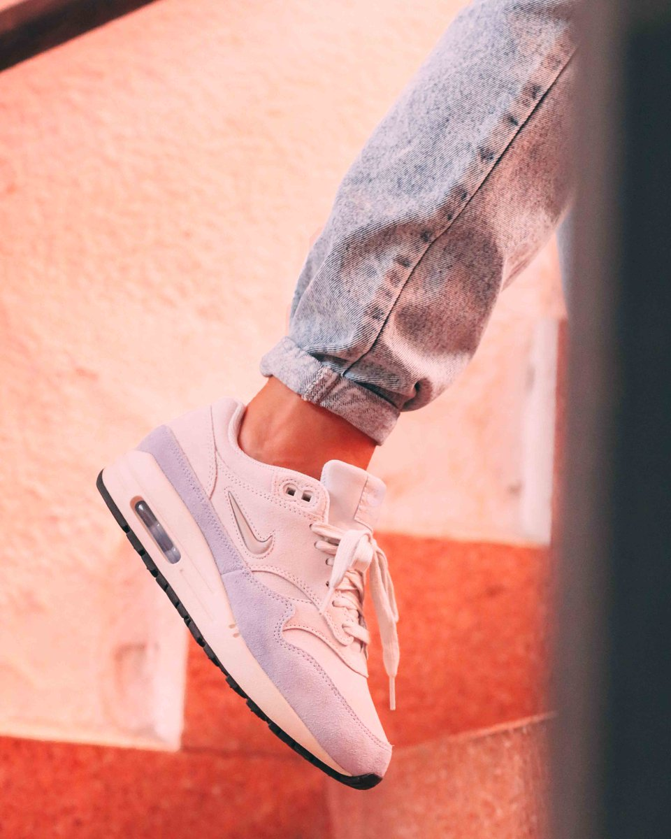f08368b92a ... Air Max 1 Premium SC with a Jewel Swoosh. Luxury to lead your way each  day. Online & in store now: http://ow.ly/d9y530lPh6s ⠀⠀ #nike #airmax1 ...