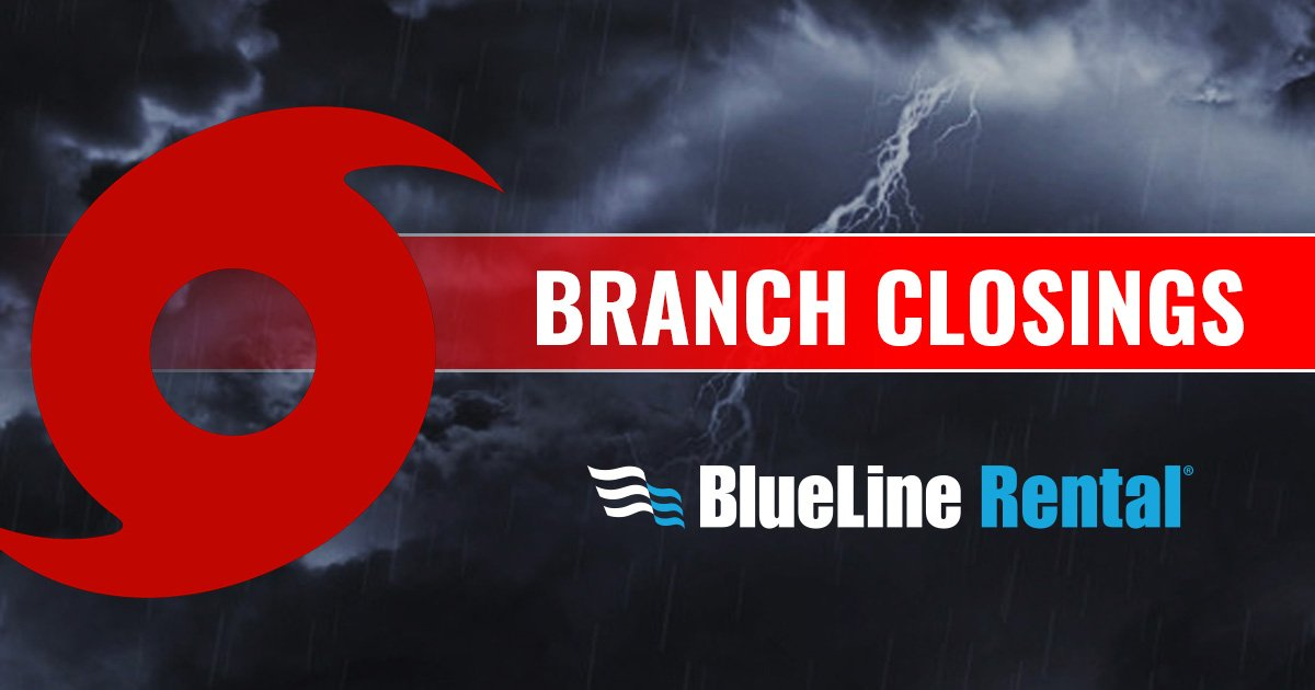 Blueline Rental On Twitter Update Due To Hurricane Florence The