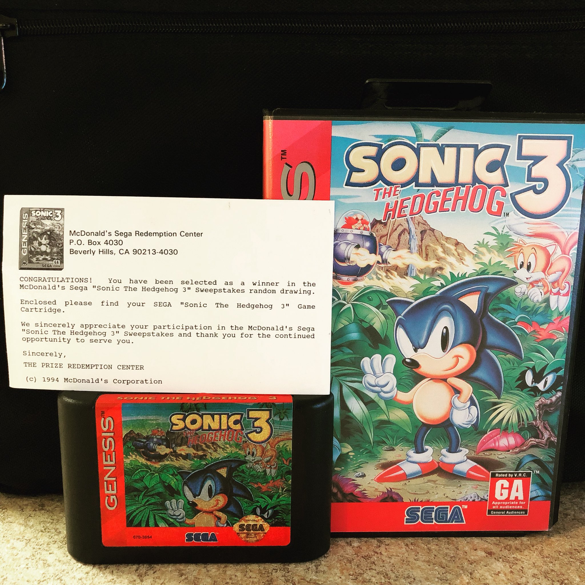 Treasurehuntingsonic On Twitter In 1993 Sega Ran A Promotion