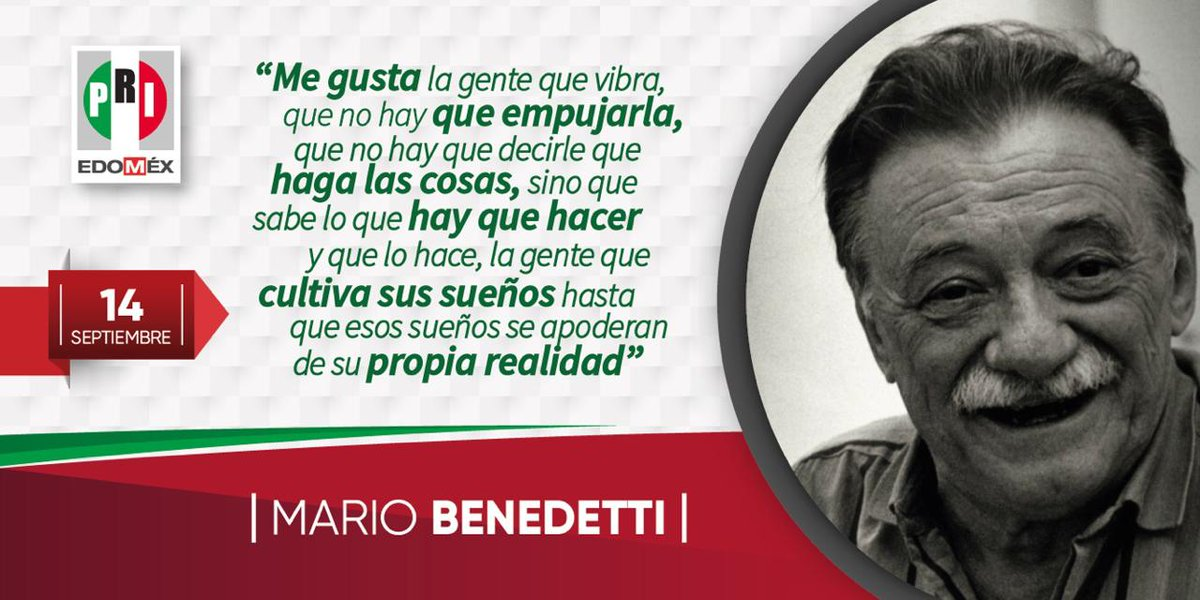 PRI Estado de México's photo on Mario Benedetti