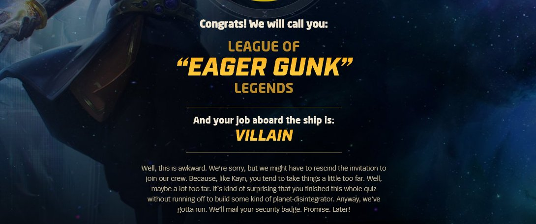 Huh, I guess that's fair...😈😈😈 Take the quiz to see your results! na.leagueoflegends.com/en/featured/ev…