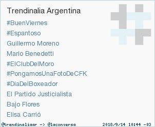 Como todos los viernes #PongamosUnaFotoDeCFK es TT en Argentina!!!!! @CFKArgentina @liscatania Foto