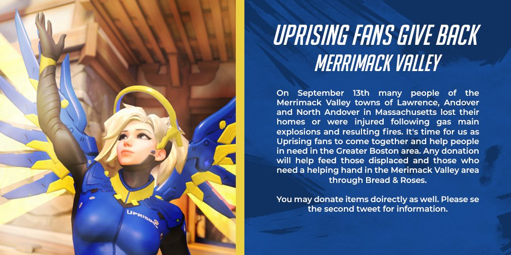 We could all use a helping hand sometime!  The @BostonUprising community is banding together to help out those affected by the Merrimack Valley Gas Fires. More info Below.  Monetary donations can be made here:  https:// bit.ly/2NbE4Dw  &nbsp;    #MVGasFire #RiseUpTogether @breadandroses58<br>http://pic.twitter.com/Zl2lGQ39CE