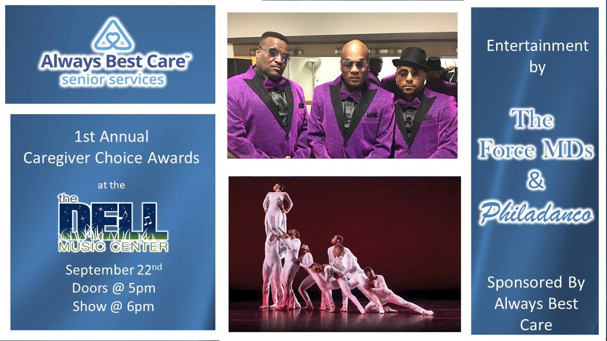 Need something to do next Saturday? The Dell's got you covered! Join us for our first annual Caregiver Choice Awards. There will be free performance by the #ForceMDs and @Philadanco ! 😆