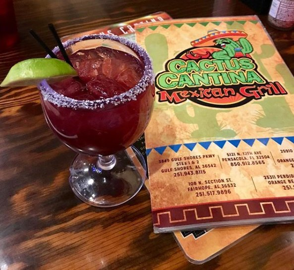 Why limit happy to only an hour? . . . . #CactusCantina #GulfShores #MexicanCuisine #Delicious #Food 📸@marciekm https://t.co/aUmek3A4WO