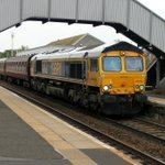 Image for the Tweet beginning: 66740 passes through Dalmeny with