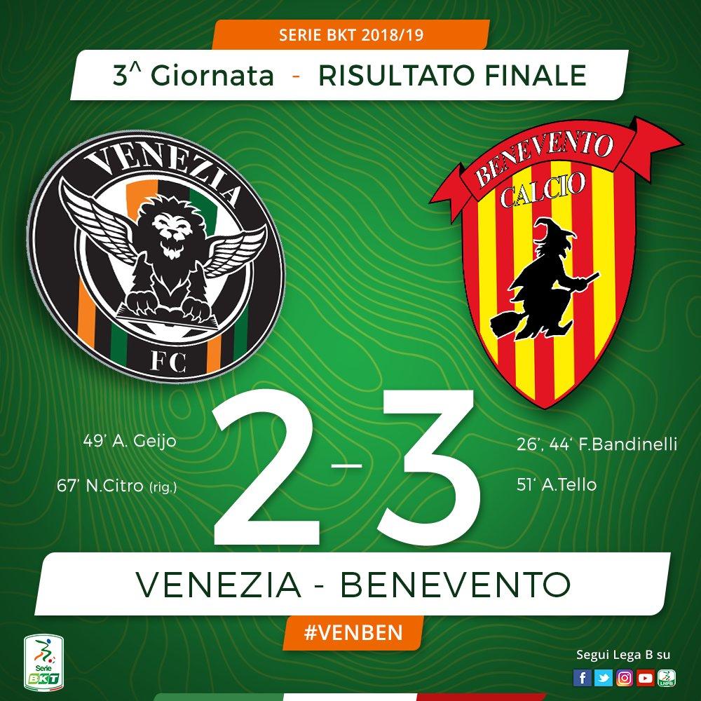 Finita! Termina 23 la sfida del Penzo #VENBEN che ha aperto questa 3^ giornata della #SerieBKT. @bncalcio che conquista così la sua prima vittoria stagionale. #FattoreB  - Ukustom