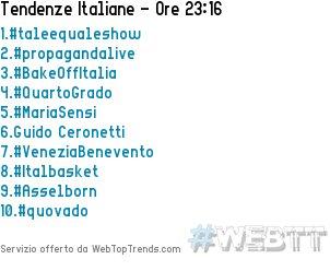 #VeneziaBenevento è appena entrato nei Top Trends Italiani in posizione #7 [23:16]  - Ukustom