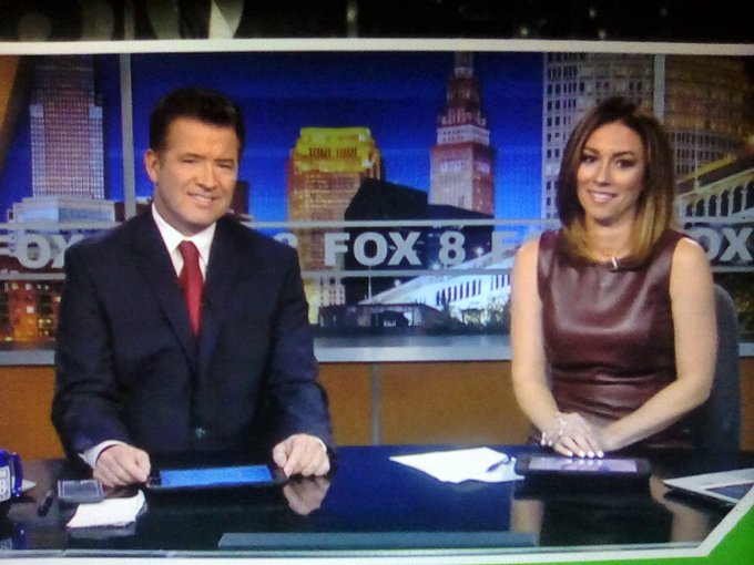 @NatalieHerbick Good Friday Natalie In Cleveland OH! Very Nice Brown Leather Dress Color Outfit You Wearing! You Are Doing Very Great Hanging On The Anchoring Desk This Week! Have A Very Great Weekend!👗 Photo