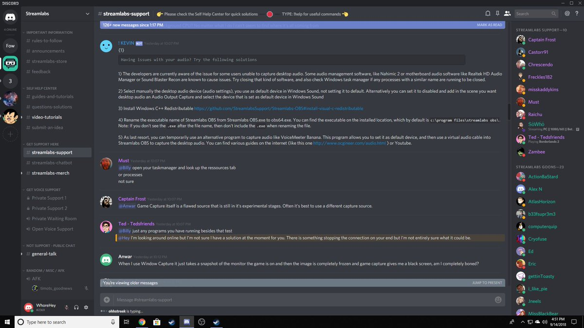 Streamlabs Obs Support Discord