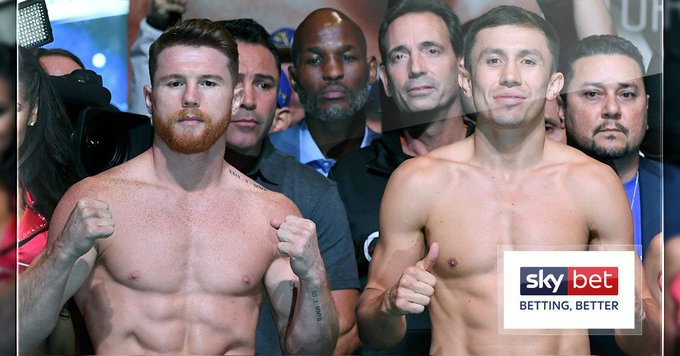⚖️ Canelo: lbs ⚖️ GGG: lbs 🥊 We have a fight! #CaneloGGG2 Photo