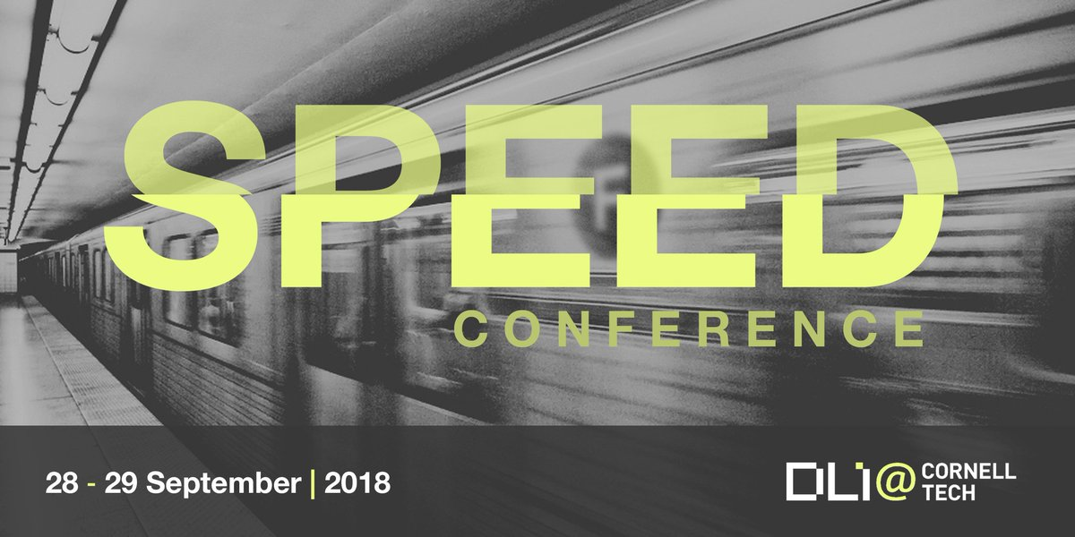 Register today for @dlicornelltechs Speed Conference on what speed means for algorithmic oversight. Sept. 28-29. Find the speaker list, schedule, and registration info here: dli.tech.cornell.edu/speed