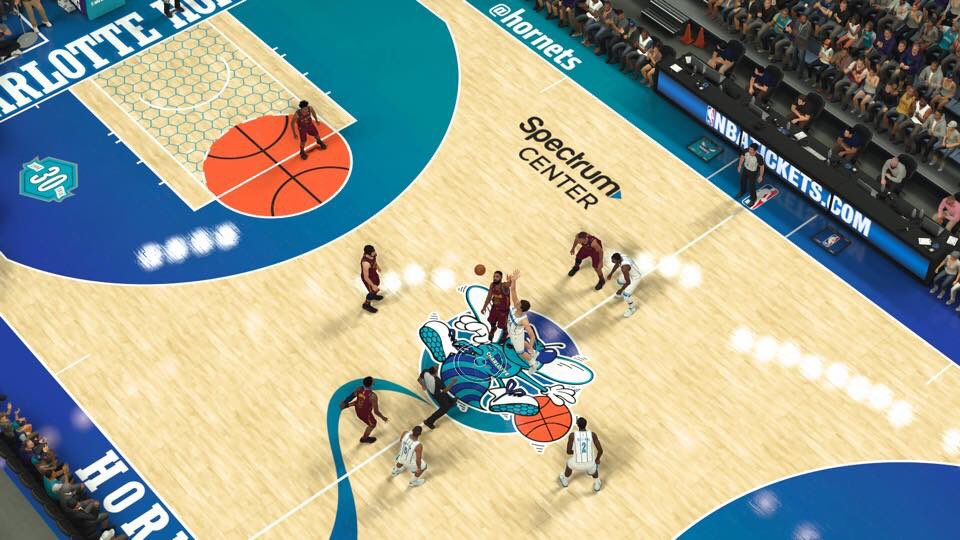The @Hornets 30 year anniversary court in 2K... *THE HEAVIEST OF BREATHING*