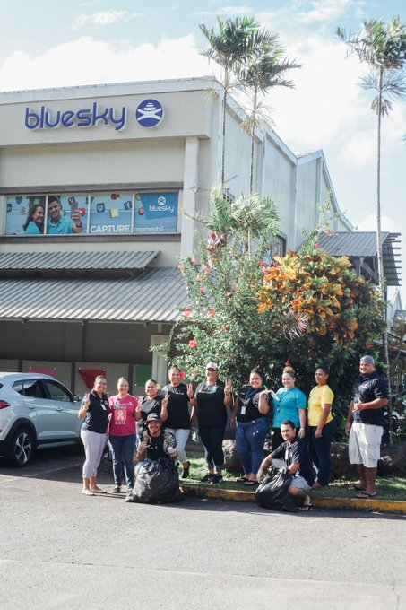 #WorldCleanupDay is the biggest civic action in human history & American Samoa is one of the 150 countries participating. Bluesky has taken the initiative for AS as our very own staff volunteered to cleanup around the Laufou Shopping Center where the main office is located. Photo