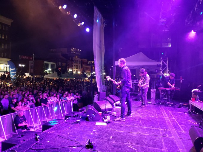 Welcome back to #Supercrawl, @wintersleep! Not a 10th anniversary party without you 💙 #HamOnt Photo
