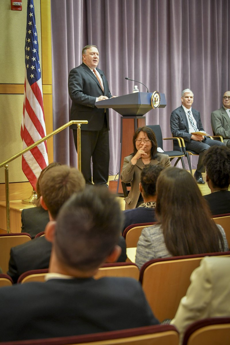One of the best parts of my job is welcoming the newest members of @StateDept team! Congratulations to the members of the 156th Civil Service class. I know you'll serve our country with pride, honor, and distinction.