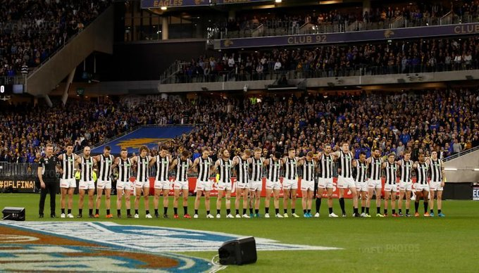 Game Day . A Prelim Final awaits if we win today . Lets pack the G and make it hostile . We have been silent & dormant for too long , its time we make that Collingwood chant reverberate around the G once again . Lets go Pies !!! @CollingwoodFC #AFLFinals #AFLPiesGiants ⚫️⚪️ Photo