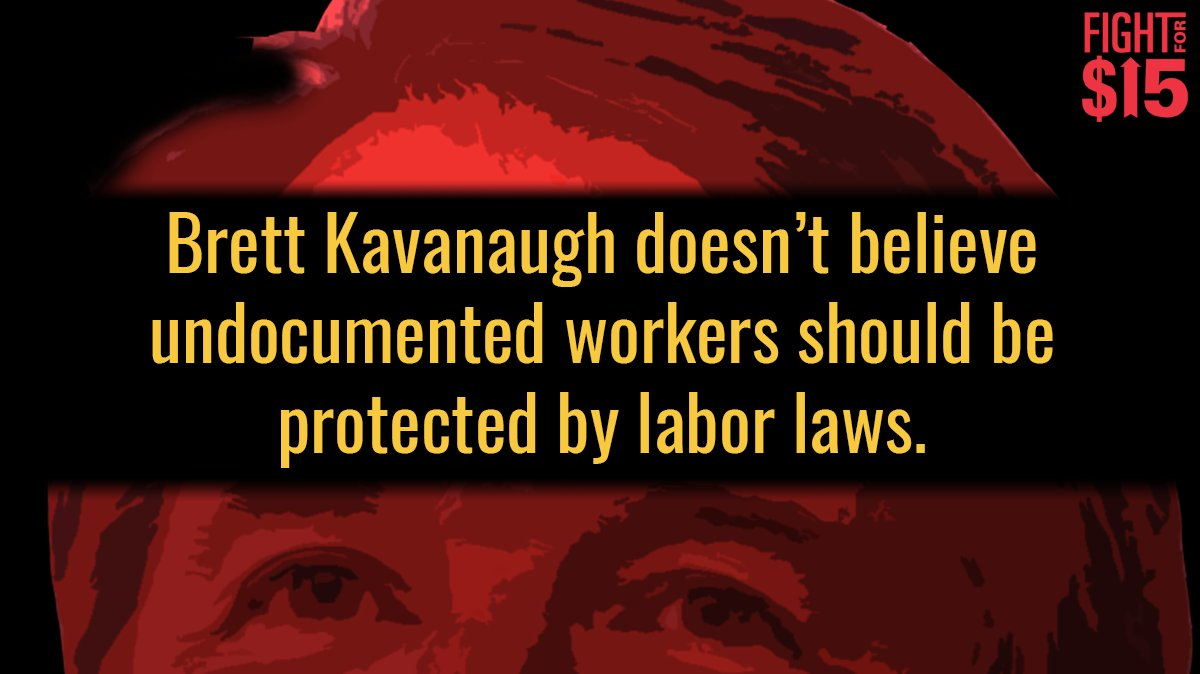 We need to strengthen labor laws, not weaken them. MORE: https://t.co/AWeSAlO5HO #FightFor15 #StopKavanaugh