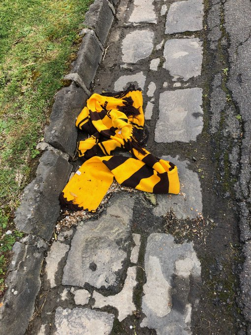 Seen in Kew this morning. Earlier it was in a puddle!! Sue. #AFLHawksDees #AFLFinals Photo