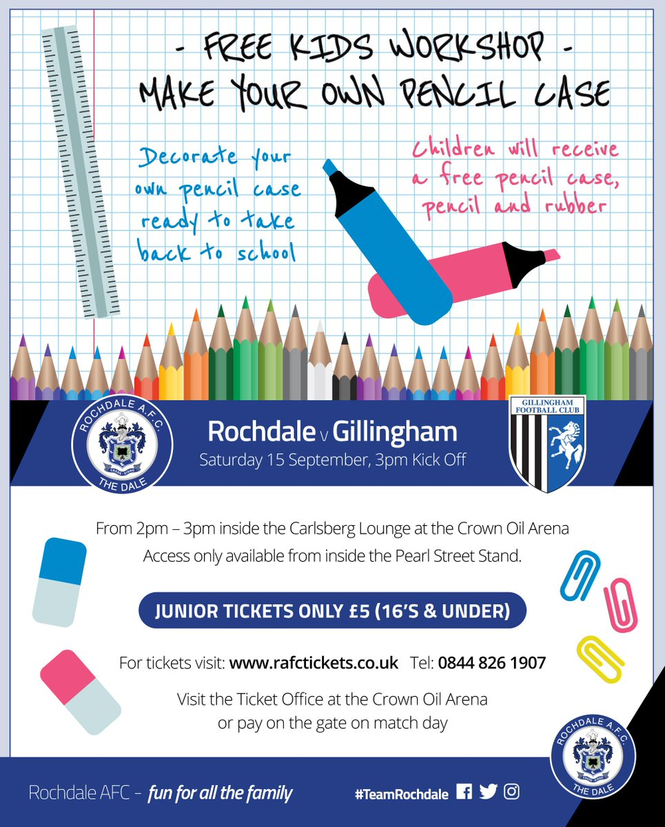 rochdale afc on twitter junior event join us in the