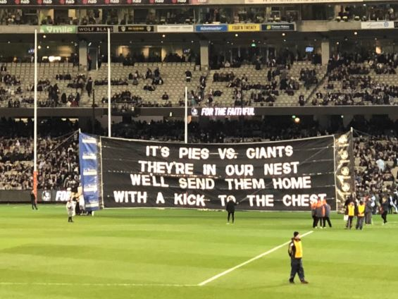 Well played, @CollingwoodFC. MORE: #AFLFinals #AFLPiesGiants Photo