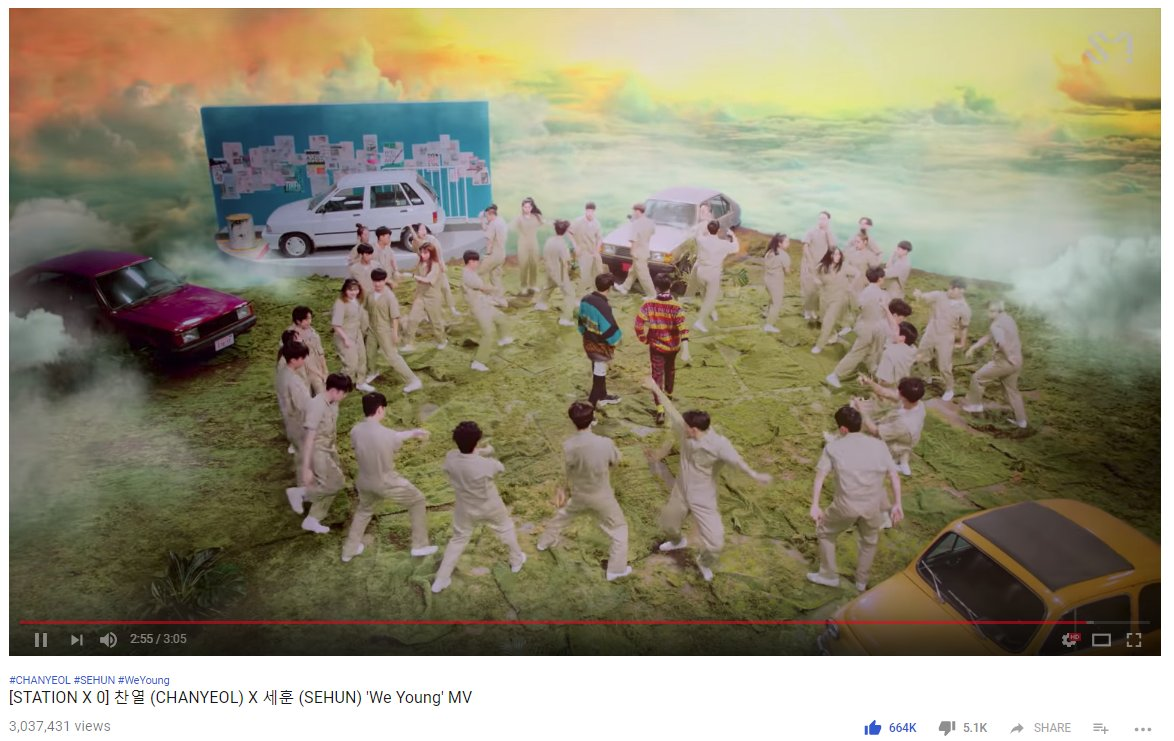 Who say we are going down? EXO told us, &quot; We dun stay down, Cuz We Young!&quot;  3M. You sneaky EXOL. You do stream. ^^  #EXO  @weareoneEXO #weareoneEXO  #EXOPLANET  #EXO_COMINGSOON  @B_hundred_Hyun @LAY_zhang_<br>http://pic.twitter.com/vYiYUsfEZO