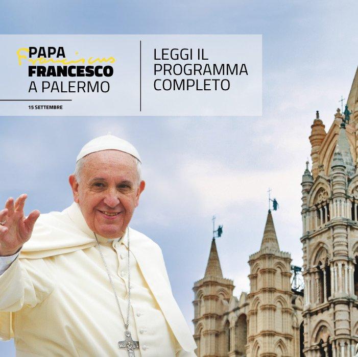 Un giorno, 5 #tappe. Il #programma della #visita del #SantoPadre è fittissimo. Scoprilo su:  http:// www.papafrancescoapalermo.it/programma/#PalermoCapitaleCultura  - Ukustom