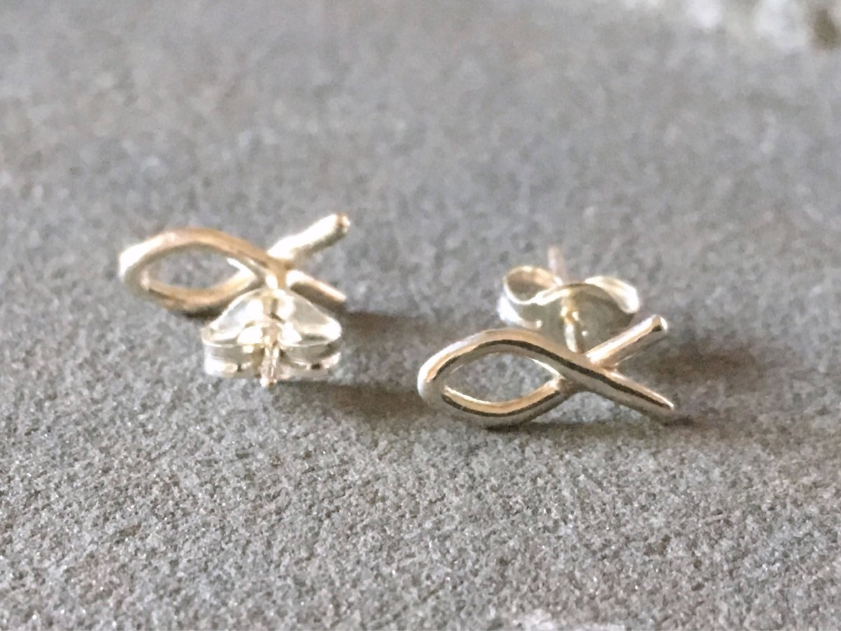 Silver Sculptor On Twitter Christian Fish Symbol Stud Earrings