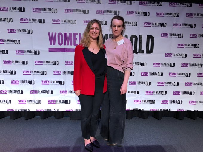 Couple of scholars from WA at the #wimconf18 ⁦@e_janesmith⁩ Thanks for having us ⁦⁦@withMEAA⁩ Photo