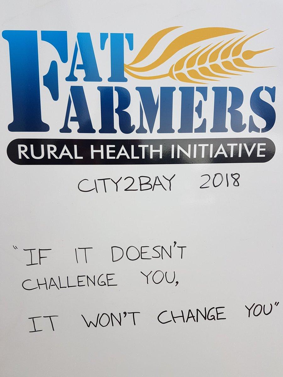 For those in 2mrw's #CitytoBay I'll do my 12kms at home, but I'll be thinking of you! Go @fat_farmers 👍👍👍 @AnnaBinnaFarm @BARTgrain @AdamMorgan77